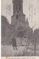 51 MUIZON (ENVOYÉ DU) . 55 BEAUZEE SUR AIRE. L'EGLISE.  SUPPORT DE TEXTE MILITARIA DU 9/NOV/1915 - Guerre 1914-18