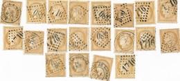 J63 - Lot De 20 Timbres Bistres CÉRES Oblitérés - 1871-1875 Ceres