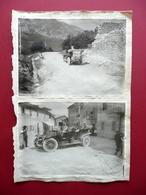 Due Grandi Fotografie Originali Auto Passo Del Cerreto (?) Primo '900 - Non Classificati