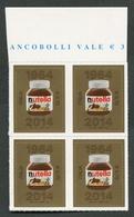 ITALIA ITALY - 2014 - QUARTINA - ANNIVERSARIO REALIZZAZIONE NUTELLA - MNH**- 817 - 2001-10: Mint/hinged