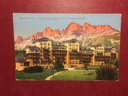 Cartolina Sudtirol - Dolomiten - Hotel Karersee Gegen Rosengartengruppe - 1922 - Bolzano (Bozen)