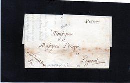 CG19 - Lett. Da Perosa X Pignerol 4/5/1840  -Bollo Stamp Inclinato Nero Senza Data - ...-1850 Voorfilatelie