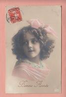 OLD PHOTO POSTCARD -  CHILDREN - GIRL - FAMOUS MODEL - BONNE ANNEE - Portraits