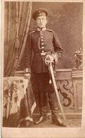 5.CDV. Armée Allemande. Militaire Au Sabre. Photo Wilhelm Pollot. Darmstadt 1880 - Guerra, Militares