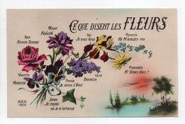 - CPA FLEURS - Ce Que Disent Les Fleurs - Série REX 1805 - - Flores