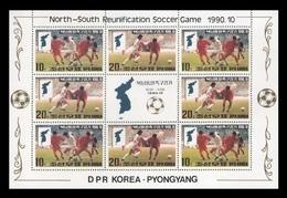 North Korea 1990 Mih. 3139/40 North-South Reunification Football Games (M/S) MNH ** - Korea (Nord-)