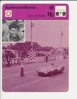 Caroll Shelby (Aston Martin 24 Heures Du Mans 1959) F1 Formule 1 Race Car Sport Automobile 1FICH-Auto-2 - Sports