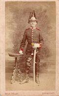 CDV. Armée Allemande. Militaire Au Sabre. Photo Wilhelm Pollot. Darmstadt 1880 - Guerra, Militares