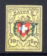 SCHWEIZ, 1850 Rayon II Gelb, Gestempelt - 1843-1852 Timbres Cantonaux Et  Fédéraux