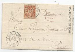 MEURTHE Et MOSELLE - NANCY - Càd S/TP SAGE Type II N°94 - 1891 - 1876-1898 Sage (Tipo II)