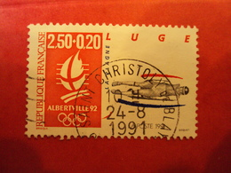 """1990-99 - Oblitéré  -  N° 2679    """"  JO Albertville , Luge 2.50+0.20 """"  -  Net    1 - Used Stamps"""