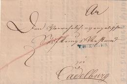 """Baden / 1850 / Vorphila-Brief Blauer K1 THIENGEN, Innen """"Vers. Ges. Des Deutschen Phoenix"""" (AJ03) - [1] ...-1849 Precursores"""