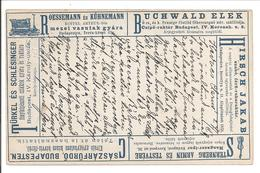 Advertising Postcard-Anzeigen Postkarte-Annonces PC. Violin/Violon/Rail Road Wagon 27.2.1893  !!! USED !!! - Entiers Postaux