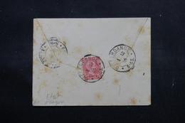 LUXEMBOURG - Enveloppe De Differdange Pour Esch En 1895, Affranchissement Plaisant - L 55061 - 1895 Adolphe Profil