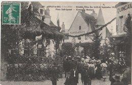 ARNAY-le-DUC (21). Grandes Fêtes Des 14-15-16 Septembre 1912. Place Sadi-Carnot. Kiosque - Arnay Le Duc