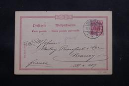 ALLEMAGNE - Entier Postal Commerciale ( Repiquage Au Verso ) De Saarbrücken Pour La France En 1899 - L 55066 - Ganzsachen