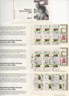 """ALLEMAGNE-BERLIN. 1984. 3 CARNETS NEUFS. THEMES """"CROIX-ROUGE"""".""""ORCHIDEE"""". - Red Cross"""