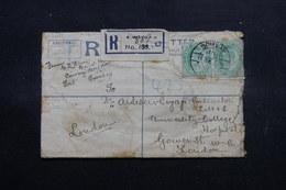 INDE - Entier Postal + Compléments En Recommandé De Bombay Pour Londres En 1909 - L 55070 - 1902-11 King Edward VII
