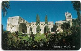 North Cyprus - Chip - K.K.T.C. - Bellapais Manastiri, 2005, Chip Axalto 03, ''For NETAS Issue'', 300U, Used - Chypre
