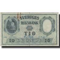 Billet, Suède, 10 Kronor, 1954, 1954, KM:43b, TB - Suède