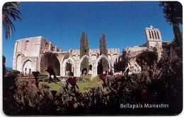 North Cyprus - Chip - K.K.T.C. - Bellapais Manastiri, 2002, SC7, 300U, Used - Chypre