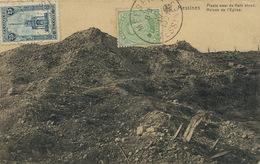 Messines Ruines De L' Eglise . Guerre 1914  Envoi à Vaire Le Grand Doubs Nels - Messines - Mesen