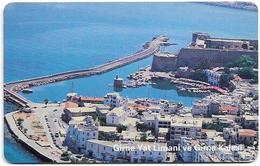 North Cyprus - Chip - K.K.T.C. - Girne Yat Limani Ve Kalesi (WITHOUT Serial No.), 2000, SC7, 150U, Used - Chypre