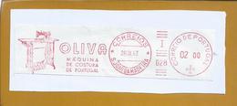 Franquia Mecânica Das Máquinas De Costura Oliva. S. João Da Madeira. Mechanical Franchise Of Oliva Sewing Machines. - Lettere