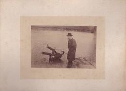 PHOTO Par EMILE BOISSIER, Poète Nantais, Sur Carton  XIXe- SON FRERE GEORGES Et Un Ami L. TRAGIN - Places