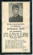 Ardennes.ROCHE. 1940. Sterbebild Avis Décès Soldat Allemand - 1939-45