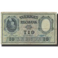 Billet, Suède, 10 Kronor, 1955, 1955, KM:43c, TB - Suède