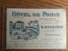Carte Postale Grenoble Hôtel De Paris - Grenoble