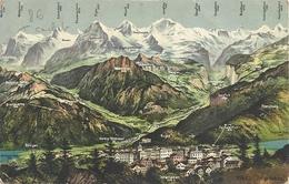 CPA Suisse Grindelwald Cachet Internement De Prisonniers De Guerre 14-18 - BE Berne