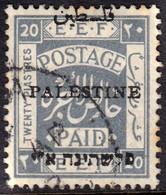 Palestine 1926 20p Type 4 O/p SG26 - Fine Used - Palestina