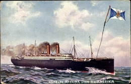 Artiste Cp Dampfschiff SS Amerika, HAPAG, Ansicht Steuerbord, Tuck 501 - Illustrators & Photographers