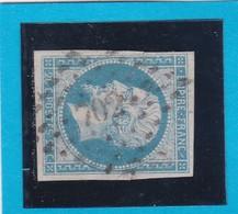 N° 14f  Bleu Laiteux    PC  702   CHALONS-sur-SAONE  ( 70 )   SAONE-et-LOIRE  -  REF 14112  + Variété - 1853-1860 Napoleon III