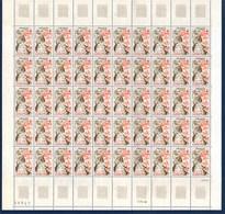 = Croix Rouge Les Saisons, L'Automne Feuille Complète Neuve N°1861 X50 à 80c + 20c - Feuilles Complètes