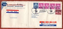 Luftpost, Lincoln U.a., Spokane Nach Bayreuth 1961 (91781) - Storia Postale