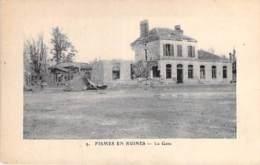 MILITARIAT - 51 - FISMES En Ruines - La GARE - CPA - Val De Marne - Altri