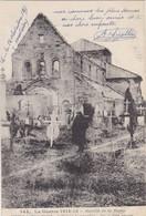 51 HEITZ LE MAURUPT. GUERRE 1914-18 BATAILLE DE LA MARNE.L''EGLISE BOMBARDEE + TEXTE DU 16 NOVEMBRE 1915 - Guerre 1914-18