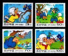 North Korea 2003 Mih. 4610/13 Animated Film Antelopes Defeat Bald Eagles MNH ** - Korea (Nord-)