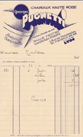 69-G.Pugnetti..Chapeaux Haute Mode...Lyon..(Rhône)..1932 - Textile & Vestimentaire