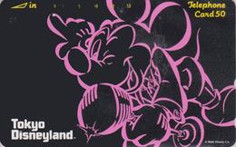 Télécarte JAPON / 110-85715 B - DISNEY - DISNEYLAND - MICKEY MOUSE / 2  NOTCHES ** ONE PUNCH ** - JAPAN Phonecard - Disney