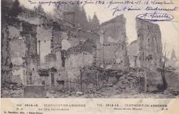 55  CLERMONT EN ARGONNE. MILITARIA.  GUERRE 1914-18 .LA COTE SAINTE ANNE + TEXTE DU 20 JUIN 1916 - Guerre 1914-18