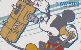 Télécarte JAPON / 110-182806 - DISNEY - MICKEY Photographe  ** LAWSON ** NFS - JAPAN Phonecard / NOT FOR SALE - Disney