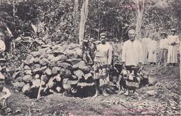 Tahiti - Préparation Pour La Cuisson Des Racines. - Polynésie Française