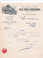 69-Aux Deux Passages..Grands Magasins De Nouveautés...Lyon..(Rhône)..1934 - Vestiario & Tessile