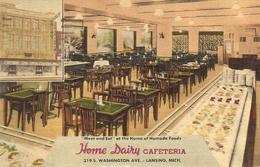 Lansing : Home Dairy Cafeteria , Washington Ave. 1951 - Lansing