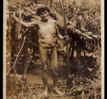 Velho BUGRE Voltando Da Caça. Postal Fotografico. Edição De Florianopolis. Vintage Photo Postcard ETHNIC Brasil Brazil - Curitiba