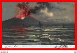 CPA FANTAISIES. Illustrateur A. Coppola.  Napoli, Le Vésuve Au Moment De L'éruption De 1895 ...CO 877 - Autres Illustrateurs